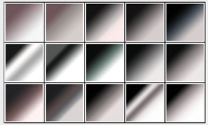81款经典黑白和七彩PS渐变