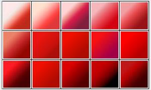 30款美丽的红色风格PS渐变