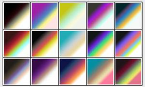90款炫麗的彩色PS漸變