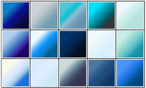 30款清新的蓝色通透PS渐变