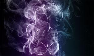 合成绚丽的烟雾美女PS教程素材