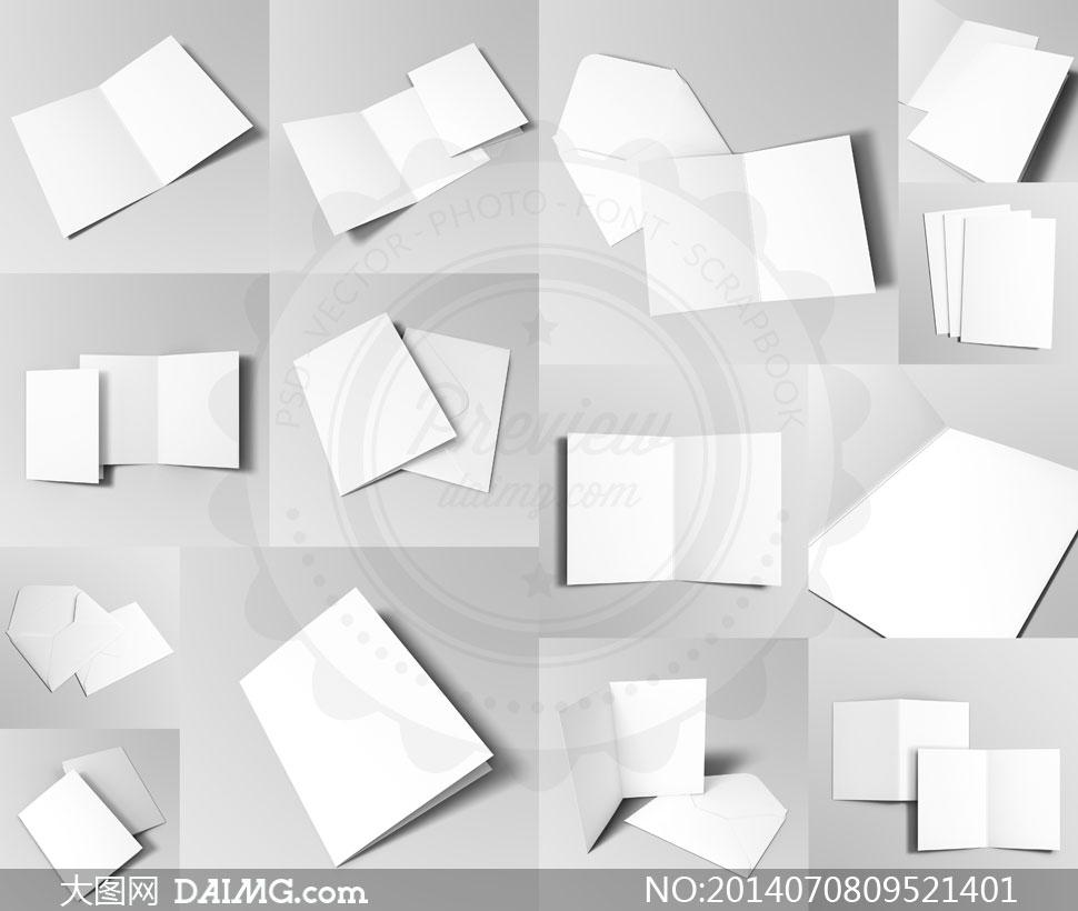 多款画册折页透视效果展示设计模版