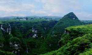 贵州万山夜郎谷全景图摄影图片