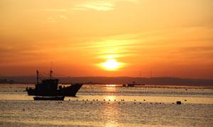 海边唯美日落美景摄影图片
