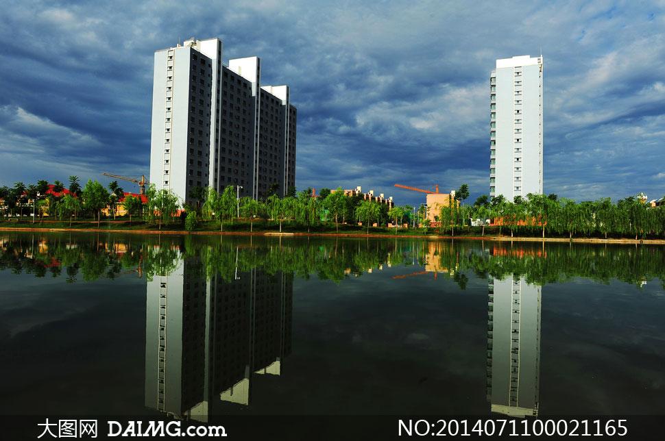 金水湾小区美景摄影图片 - 大图网设计素材下载