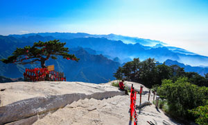 华山山顶美丽风光摄影图片