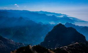 连绵的华山风光摄影图片