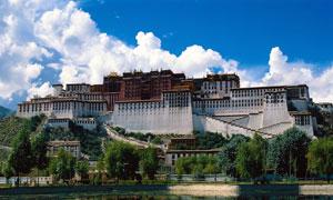 西藏布达拉宫旅游风光摄影图片