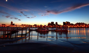 北戴河美丽夜景摄影图片
