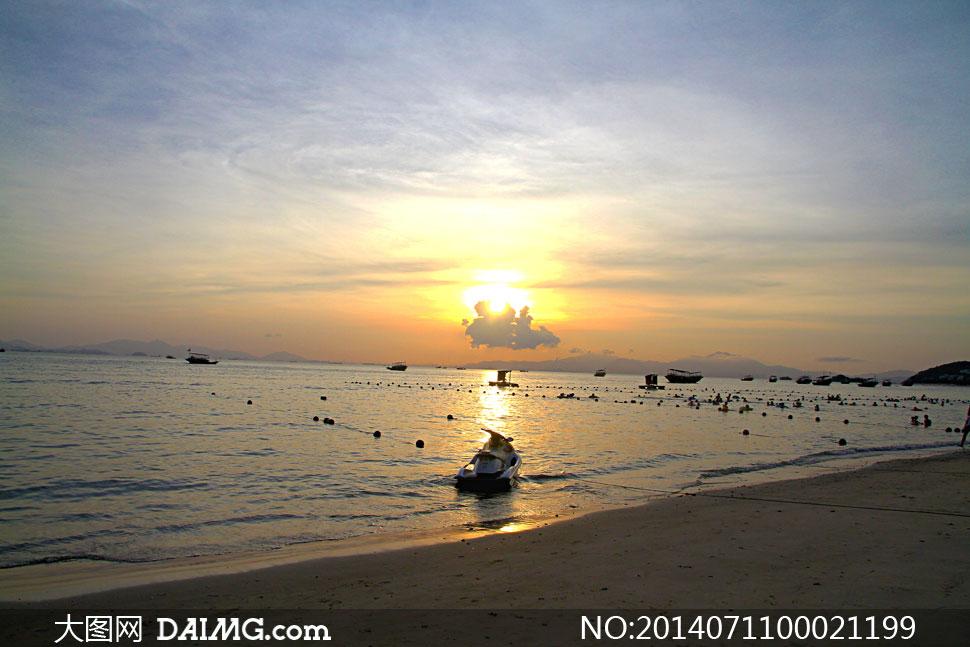 巽寮湾海边落日风光摄影图片 - 大图网设计素材
