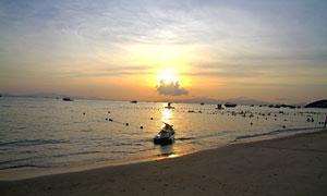 巽寮湾海边落日风光摄影图片