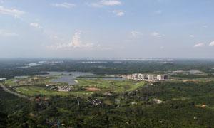 琼海市白石岭全景摄影图片