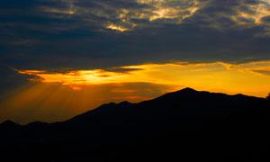美丽的落日余晖摄影图片素材
