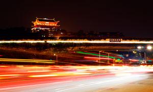 福州屏山镇海楼璀璨灯光摄影图片
