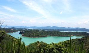 河源万绿湖全景摄影图片