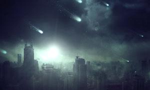 超酷的城市世界末日场景图PS教程素材