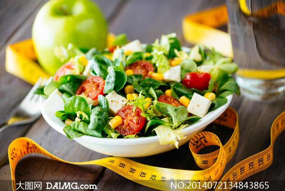 摄影用的沙拉图片水果设计高清周期-大图网减肥素材下载健身减肥蔬菜图片