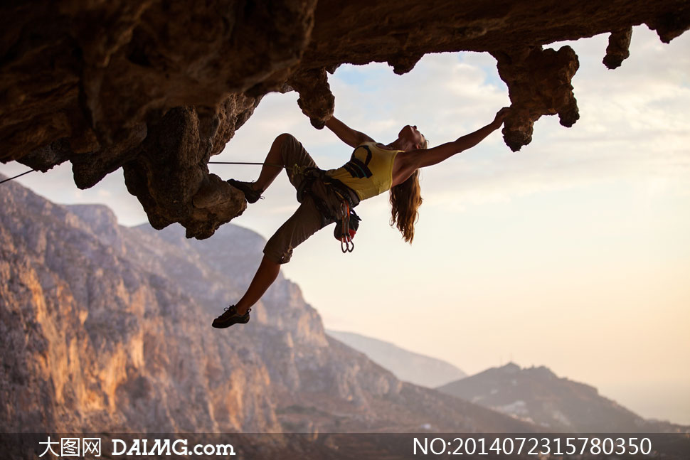 高清摄影大图图片素材人物体育运动美女女性女人攀登
