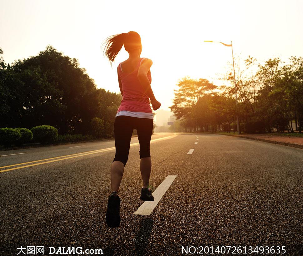 美女上跑步的背影约浦东美女高清v美女图片公路图片