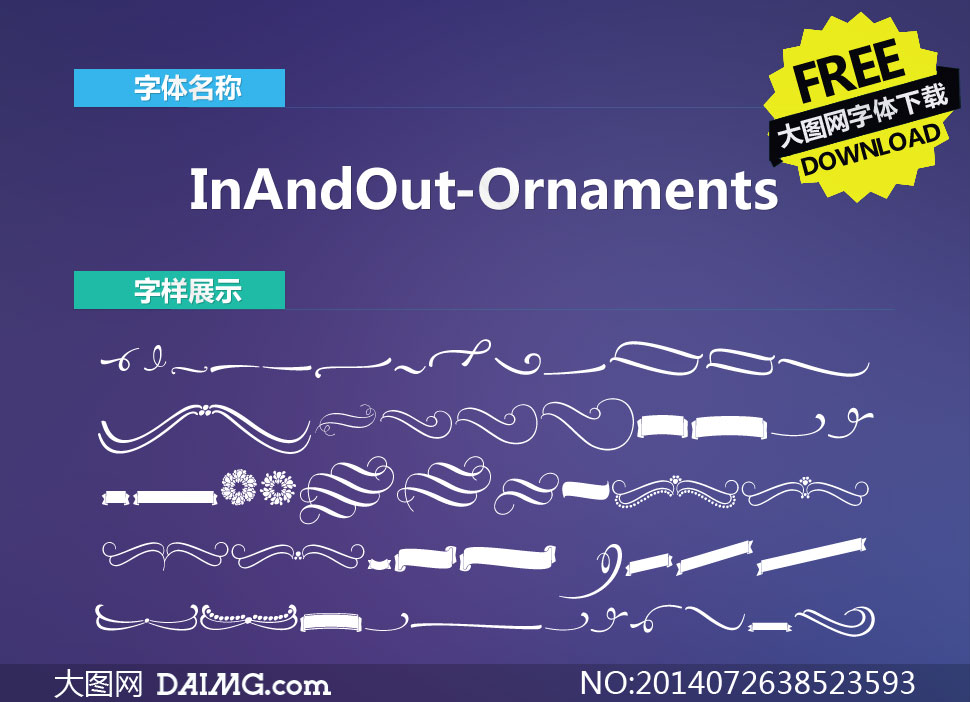 InAndOut-Ornaments(图形字体)