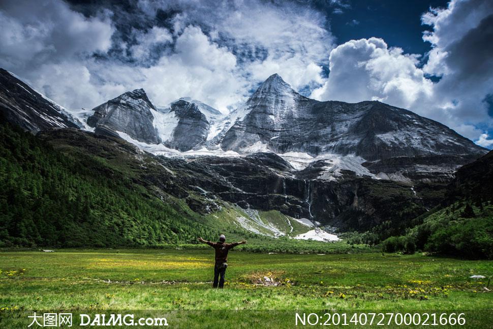 香格里拉雪山美景摄影图片 - 大图网设计素材下载