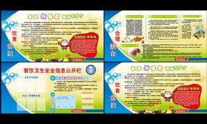 餐厅饮食知识展板设计PSD源文件