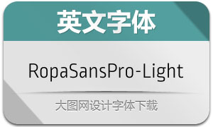 RopaSansPro-Light(英文字体)