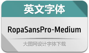RopaSansPro-Medium(英文字体)