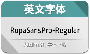 RopaSansPro-Regular(英文字体)