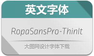 RopaSansPro-ThinIt(英文字体)