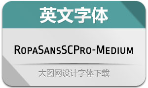 RopaSansSCPro-Medium(字体)