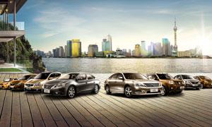 日产汽车全家福海报设计PSD源文件