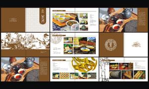 普洱茶画册设计模板矢量素材