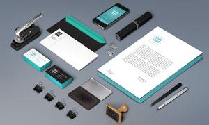 信封名片与印章等贴图模板设计素材