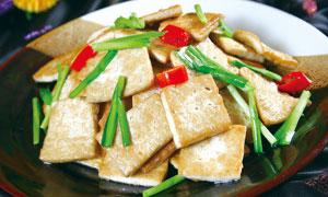 浏阳煎豆腐美食摄影图片