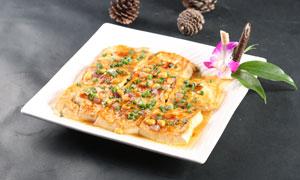 客家煎豆腐美食摄影图片