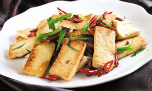 农家烧豆腐美食摄影图片