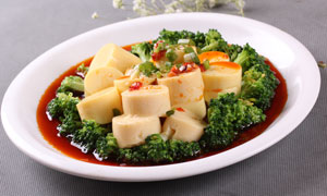 玉兰日本豆腐美食摄影图片