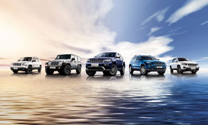 Jeep全家福汽车广告设计图片素材