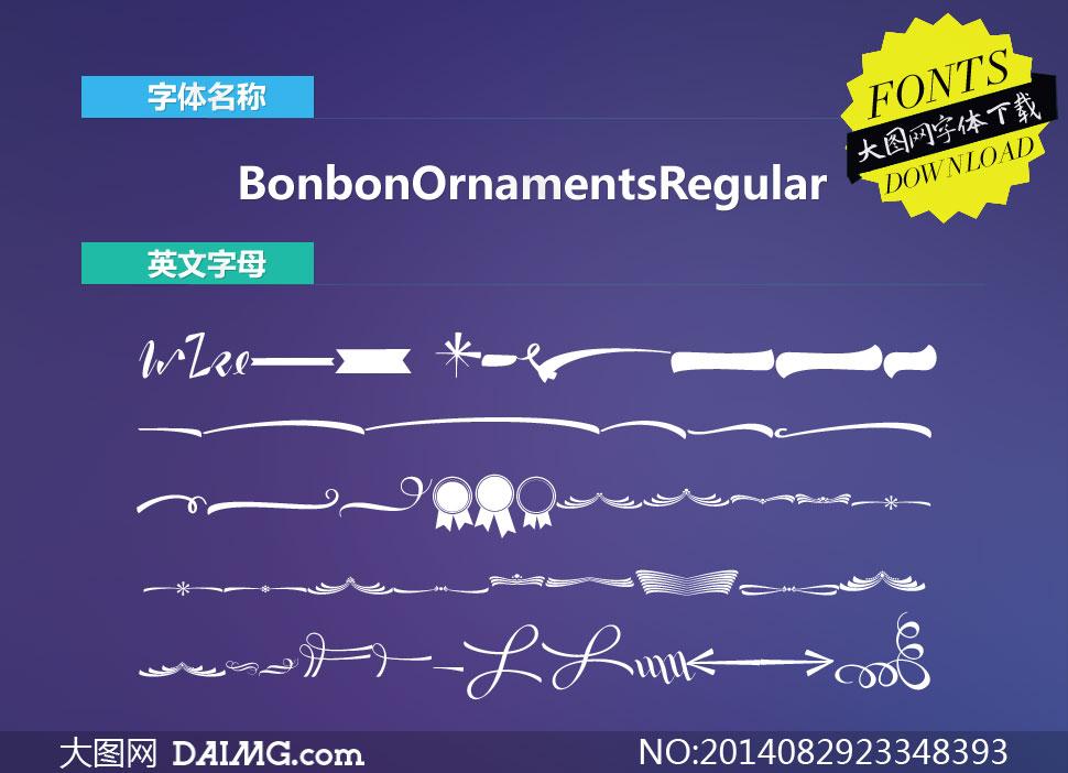 BonbonOrnamentsRegular(字体)