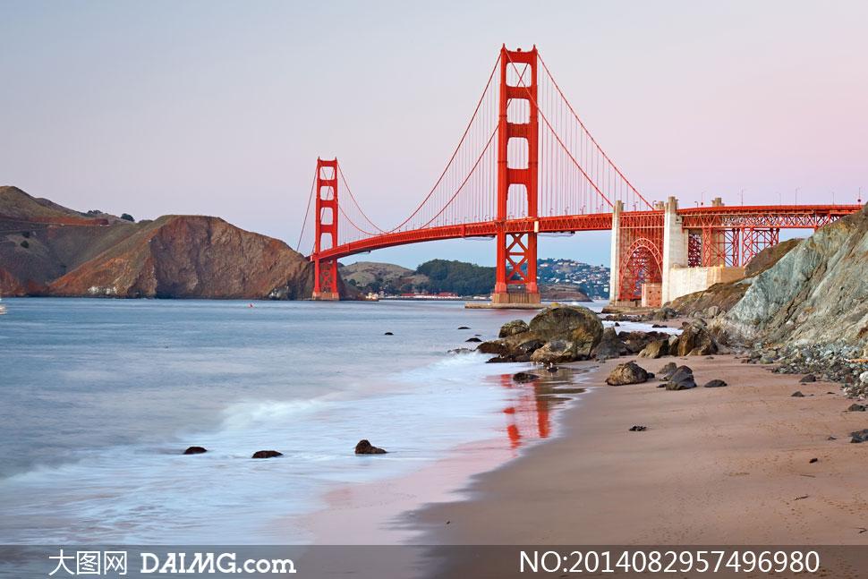美国加州金门大桥风光摄影高清图片图纸v高清西北房屋图片