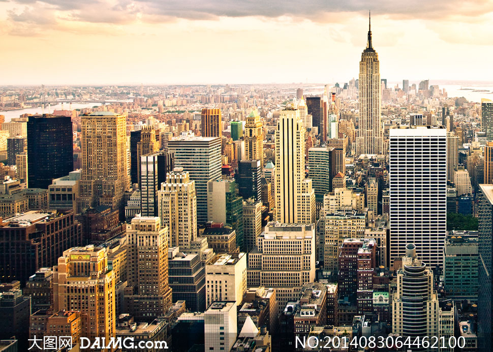 俯视城市桌面壁纸