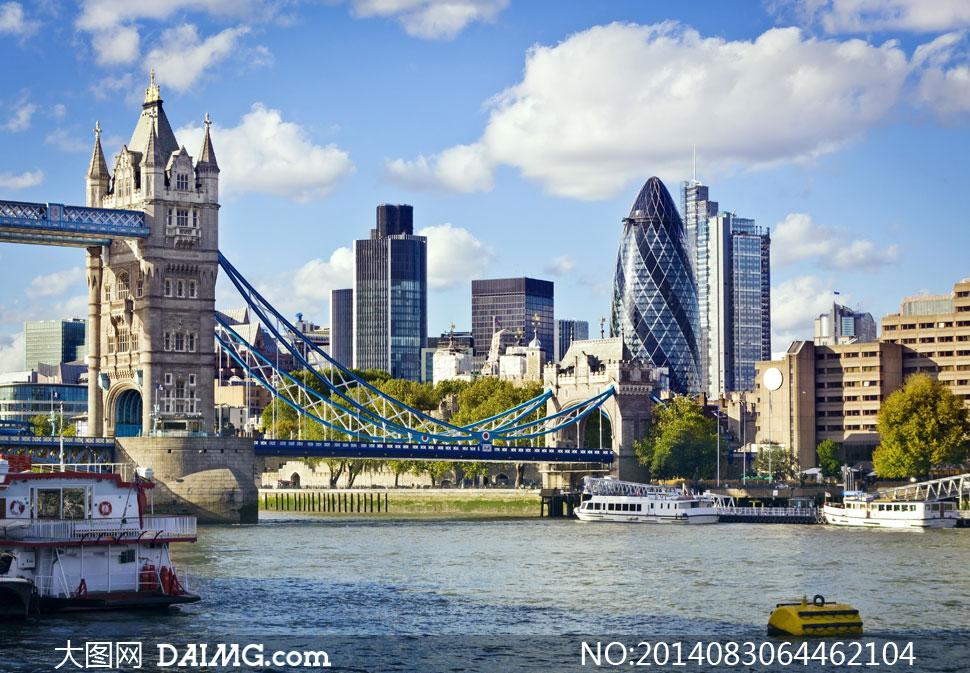 风景建筑物英国伦敦蓝天白云云彩云彩多云天空楼房