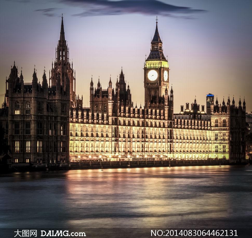 英国国会大楼_英国议会大厦与大本钟摄影高清图片 - 大图网daimg.com