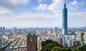 台北101摩天大楼景观摄影高清图片