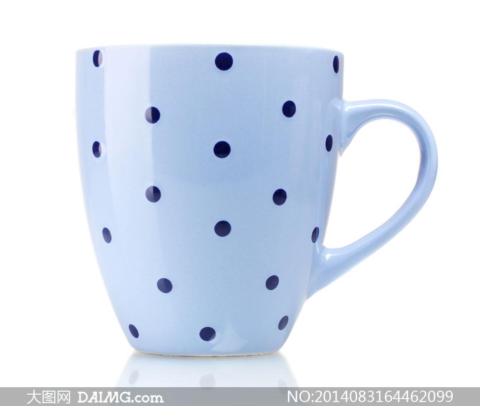 圆形斑点镶嵌的马克杯摄影高清图片 - 大图网设计素材图片