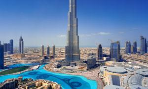 迪拜摩天大楼鸟瞰景观摄影高清图片