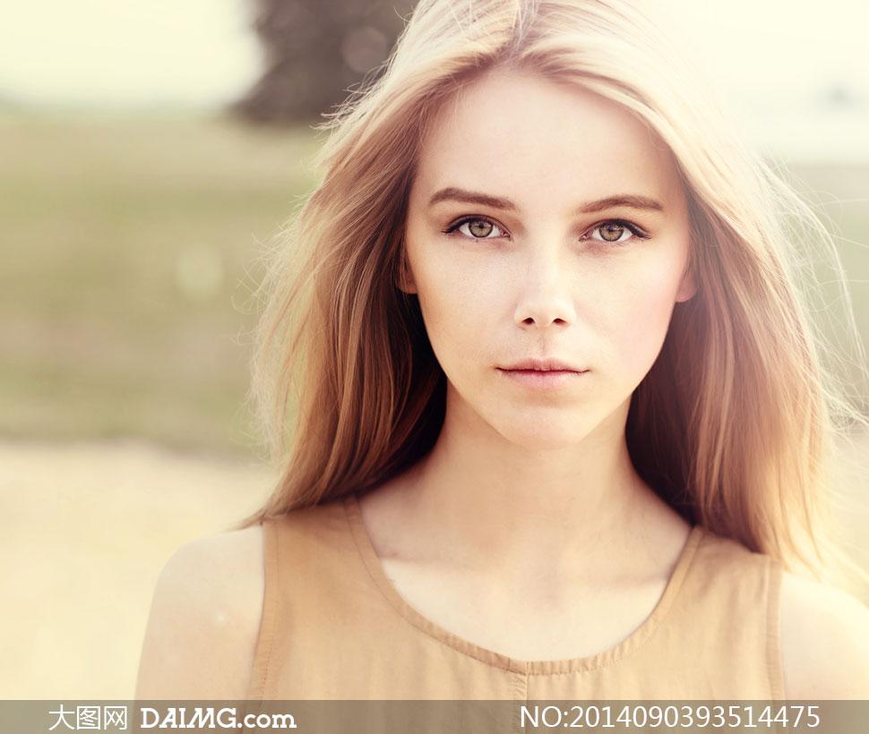 美女模特人物近景特写摄影高清图片