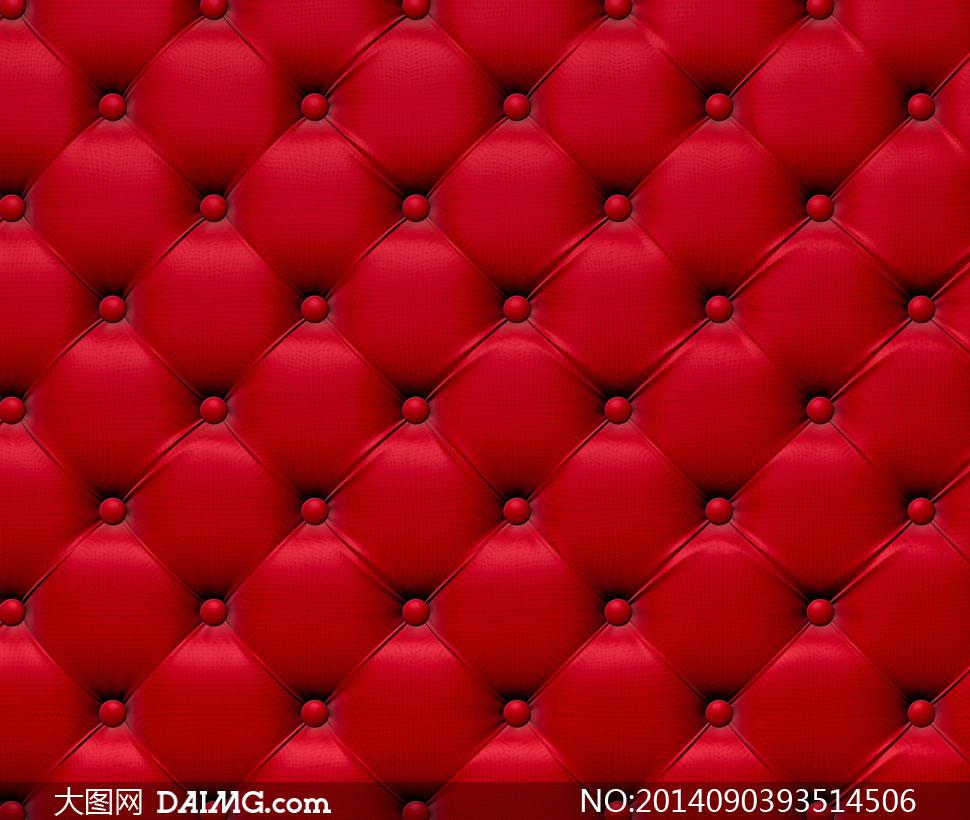 红色逼真质感软包背景摄影高清图片