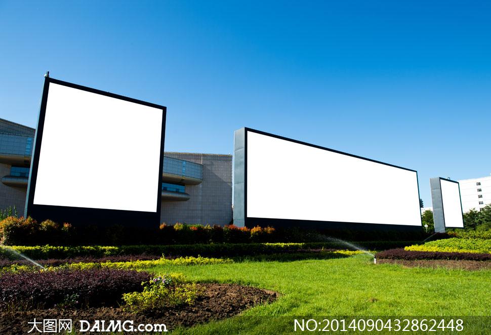 空白户外灯箱广告牌等摄影高清图片图片